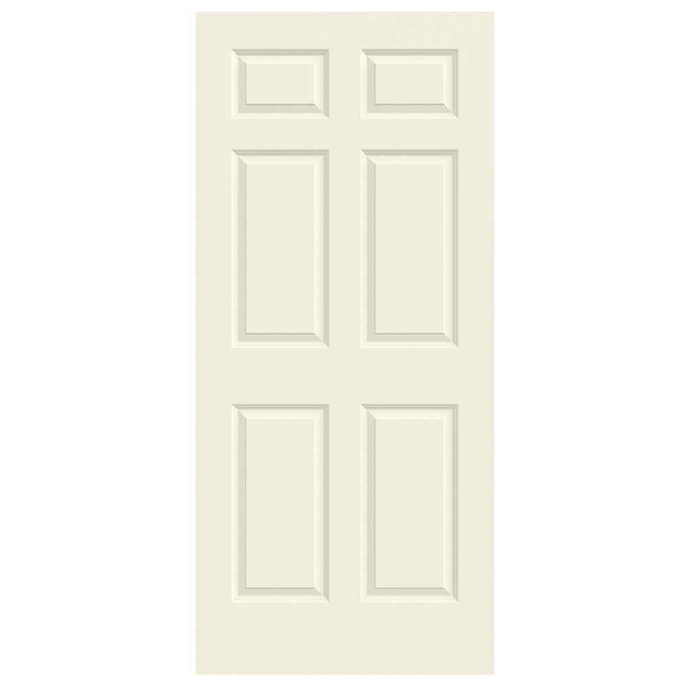 6-PANEL PREHUNG DOOR, PRIMED WHITE, LEFT HAND, 28X80 IN.
