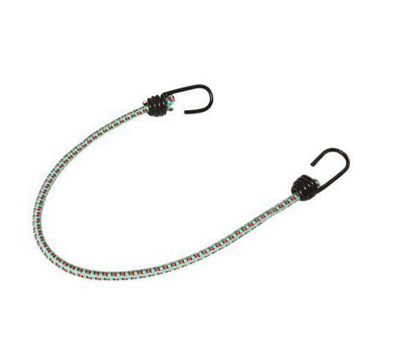 18 IN. LONG, 8MM BUNGEE CORD WITH HARDENED WIRE HOOK - PACK OF 25