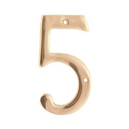 SOLID BRASS 4 IN. NUMBER 5