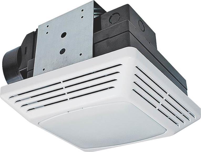 Air King High Performance Exhaust Fan/Light Combo, 26 W, 120 V, 70 cfm