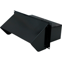 Air King WC310B Range Hood Wall Cap With Back Draft Damper, For Use With 3-1/4 x 10 in Ducting, 22 ga, Steel, Black