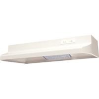 Air King Advantage AR AR1305 Under Cabinet Round Duct Range Hood, 180 cfm, 7 in, Almond
