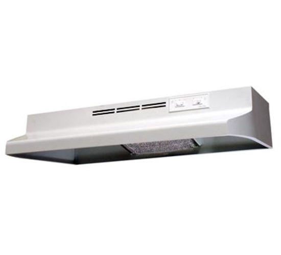 Air King Advantage AD AD1243 Under Cabinet Ductless Range Hood, 180 cfm, 23 ga Cold Rolled Steel