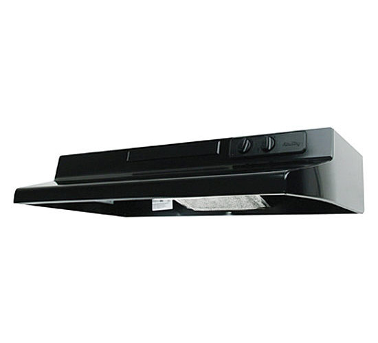 Air King Designer DS DS1306 Under Cabinet Convertible Range Hood, 200 cfm, 3-1/4 X 10 in, Black