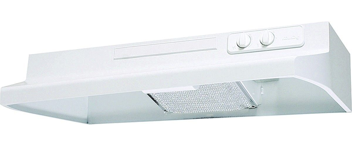 Air King Designer DS DS1303 Under Cabinet Convertible Range Hood, 200 cfm, 3-1/4 X 10 in, White