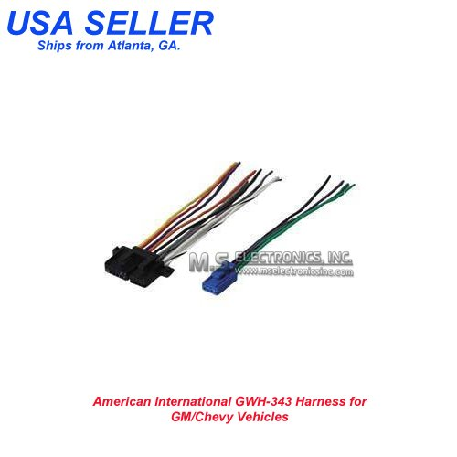 WIRING HARNESS '86-'05 GM FOR FACTORY RADIOS;AMERICAN INT'L