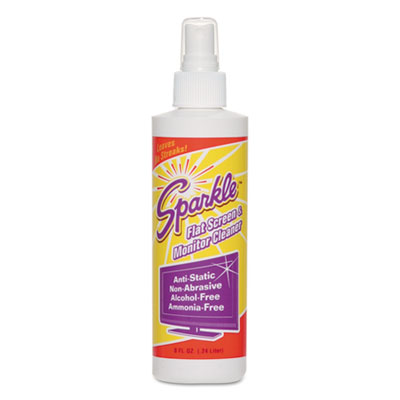 Flat Screen & Monitor Cleaner, Pleasant Scent, 8 oz Bottle