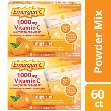 Immune Defense Drink Mix, Tangerine, 0.32 oz Packet, 60/Pack