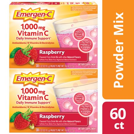 Immune Defense Drink Mix, Raspberry, 0.32 oz Packet, 60/Pack