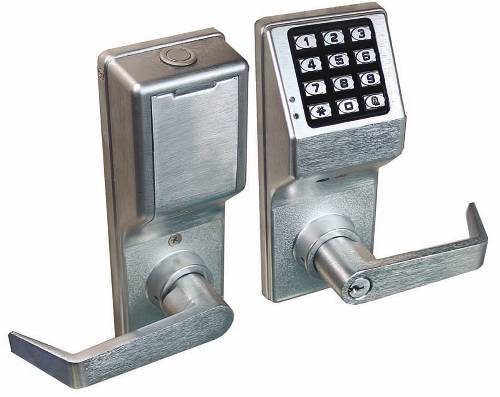ALARM LOCK 4100 SERIES PUSH BUTTON DIGITAL KEYPAD DOOR LOCK WITH PRIVACY FUNCTION SC1 KEYWAY SATIN CHROME