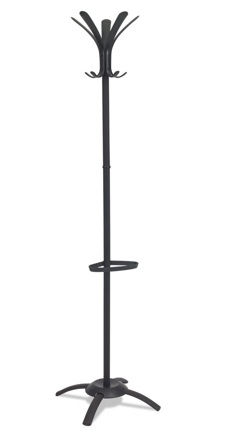CLEO Coat Stand, Stand Alone Rack, Ten Knobs, Steel/Plastic, Black
