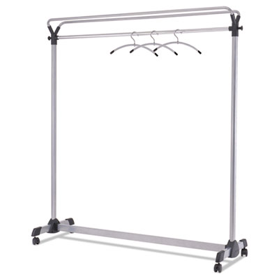 "Large Capacity Garment Rack, 63 1/2"" x 21 1/4"" x 67 1/2"", Black/Silver"