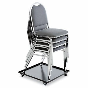 Stacking Chair Dolly, 22-1/2w x 22-1/2d, Black