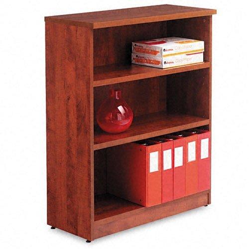 Alera Valencia Series Bookcase, Three-Shelf, 31 3/4w x 14d x 39 3/8h, Med Cherry