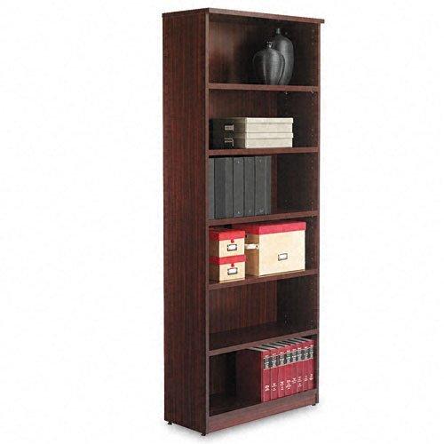 Alera Valencia Series Bookcase, Six-Shelf, 31 3/4w x 14d x 80 3/8h, Mahogany