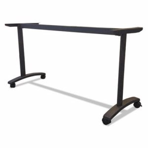 Alera Valencia Series Training Table T-Leg Base, 58w x 19-3/4d, Black