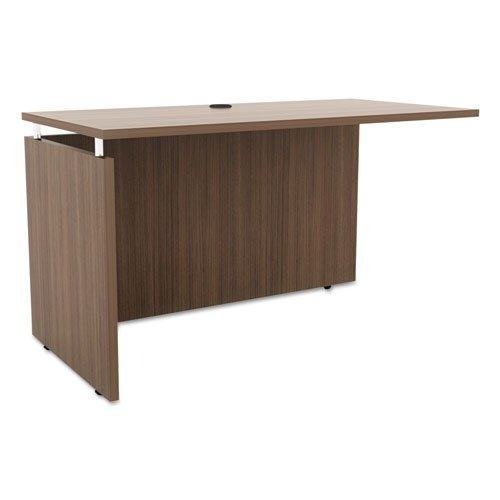 Alera Sedina Series Reversible Return/Bridge, 47 1/4 x 23 5/8 x 29 1/2, Walnut