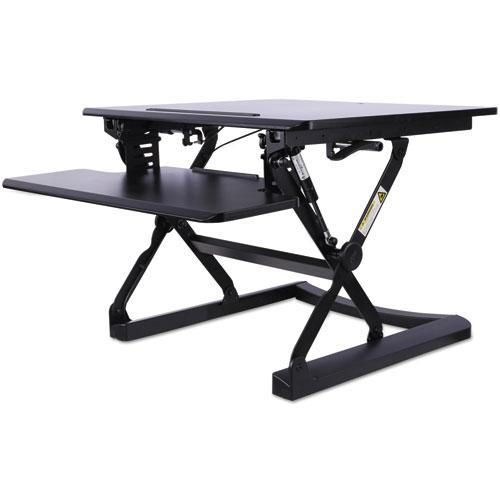 Sit-Stand Lifting Workstation, 26 3/4 x 31 x 19 5/8, Black