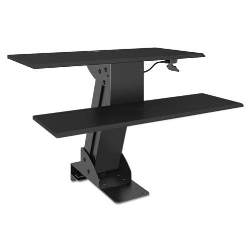 Sit Stand Workstation, 31 1/2 x 40 x 20, Black