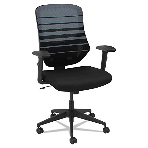 Alera Embre Series Mesh Mid-Back Chair, Black/Blue