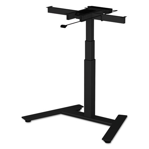 "3-Stage Single-Column Electric Adjustable Table Base, 24 3/4"" to 43 1/4""H, Black"