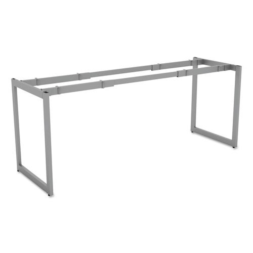 "Alera Open Office Desk Series Adjustable O-Leg Desk Base, 24"" Deep, Silver"