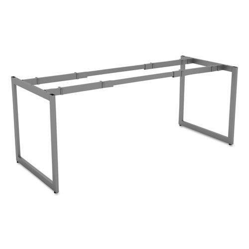 "Alera Open Office Desk Series Adjustable O-Leg Desk Base, 30"" Deep, Silver"