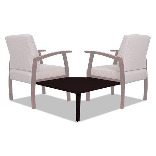 Alera Reception Lounge 700 Series Gang Table, Corner, 27 1/2 x 27 1/2, Mahogany