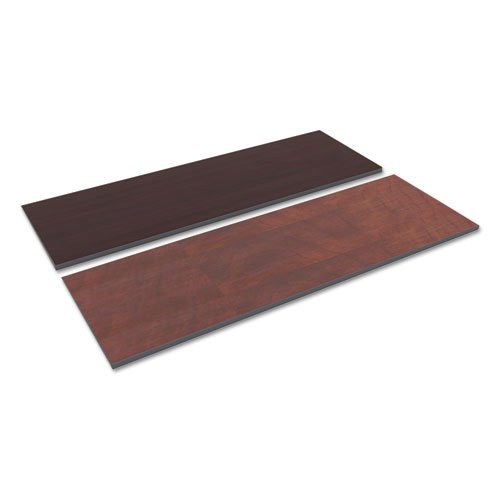 Reversible Laminate Table Top, Rectangular, 71 1/2w x 23 5/8,Med Cherry/Mahogany
