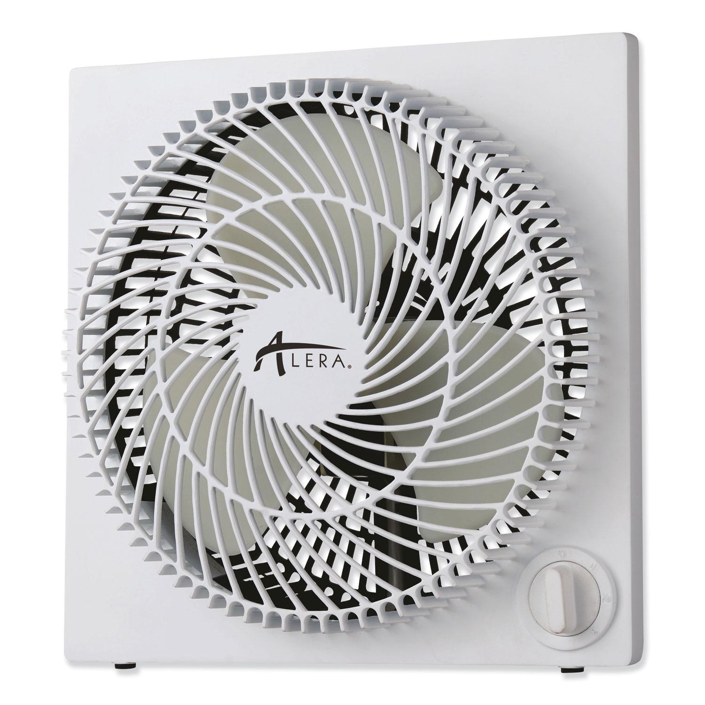"""9"""" 3-Speed Desktop Box Fan, Plastic, White"""