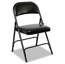 Steel Folding Chair, Graphite Seat/Graphite Back, Graphite Base, 4/Carton