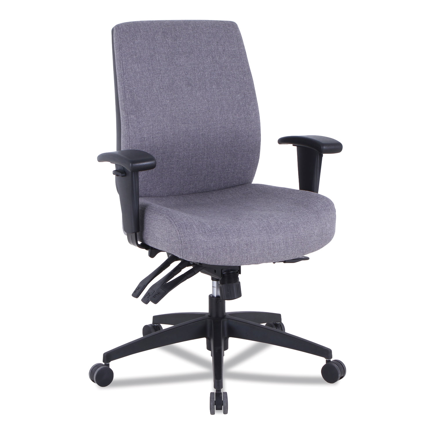 Alera Wrigley Series 24/7 High Performance Mid-Back Multifunction Task Chair, Up to 275 lbs., Gray Seat/Back, Black Base