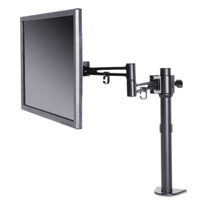 Pole-Mounted Articulating Monitor Arm, Single Monitor up to 30�, Black