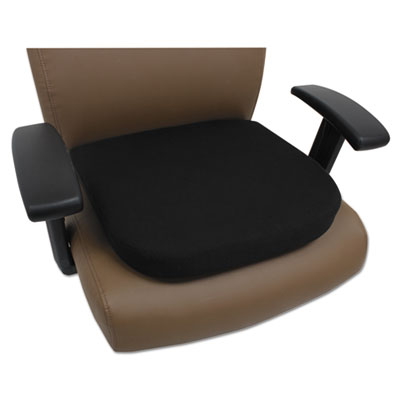 Cooling Gel Memory Foam Seat Cushion, 16 1/2 x 15 3/4 x 2 3/4, Black