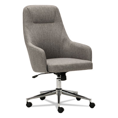 Captain Series High-Back Chair, Gray Tweed