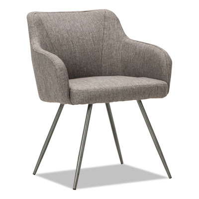 Captain Series Guest Chair, Gray Tweed