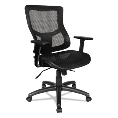 Elusion II Series Suspension Mesh Mid-Back Synchro with Seat Slide Chair, Black
