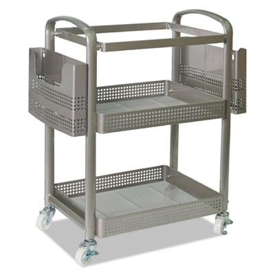 Mobile File Cart, 22 1/4w x 12 3/8d x 25 1/4h, Silver
