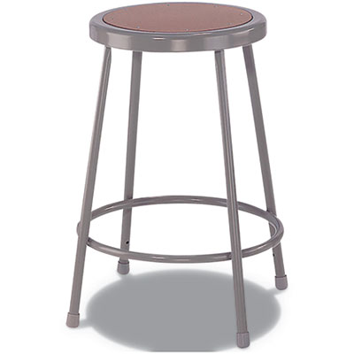 "Industrial Stool, 24"", Brown/Gray Seat"