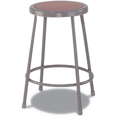"Industrial Stool, 30"", Brown/Gray Seat"