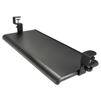 "AdaptivErgo Clamp-On Keyboard Tray, 27 1/2"" x 12 1/4"", Black"