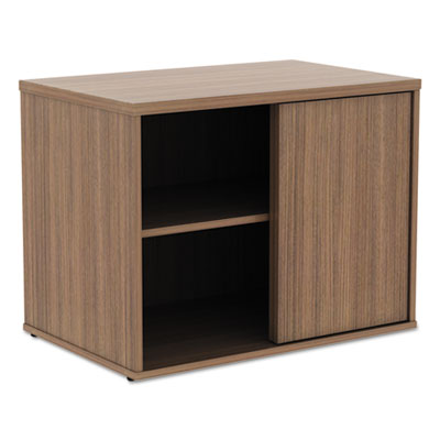 Alera Open Office Low Storage Cabinet Credenza, 29 1/2 x 19 1/8x 22 7/8, Walnut