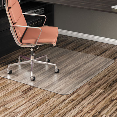 "Non-Studded Chair Mat for Hard Floor, 46"" x 60"", Clear"