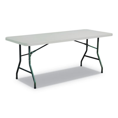 Rectangular Plastic Folding Table, 72w x 30d x 29h, Gray