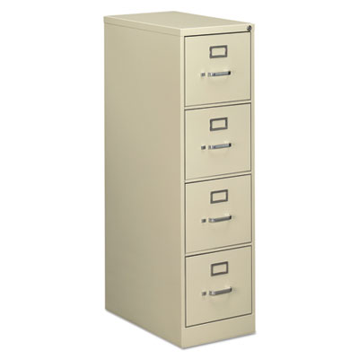 Four-Drawer Economy Vertical File Cabinet, Letter, 15w x 25d x 52h, Putty
