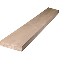 BOARD HARDWOOD WHT 1X4INX3FT