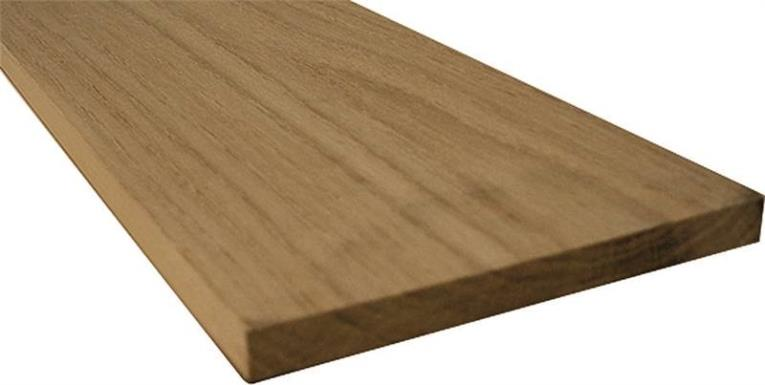 American Wood OAK-1X8X4 Common Board, 4 ft L x 8 in W x 1 in T, Oak