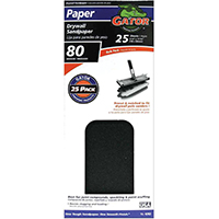 Gator 3310 Sanding Sheet, 11 in x 4-3/8 in, 80 Grit