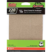 220GRIT ALUM OX 1/4 SHEET 6PK
