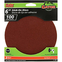 6IN 100GRIT PSA DISC 3PK
